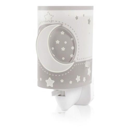 Image of Dalber natlampe LED Moonlight selvlysende grå (8420406801513)