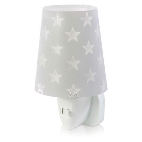 Image of Dalber natlampe LED selvlysende stjerner grå 14 cm (8420406812151)