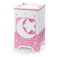 Dalber bordlampe LED moonlight selvlysende pink