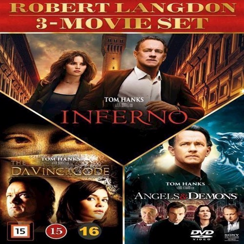 Image of Dan Brown 3movie set DVD (7330031000735)