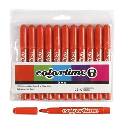 Image of Colortime - Jumbo Tuscher - Mørn Orange, 12stk