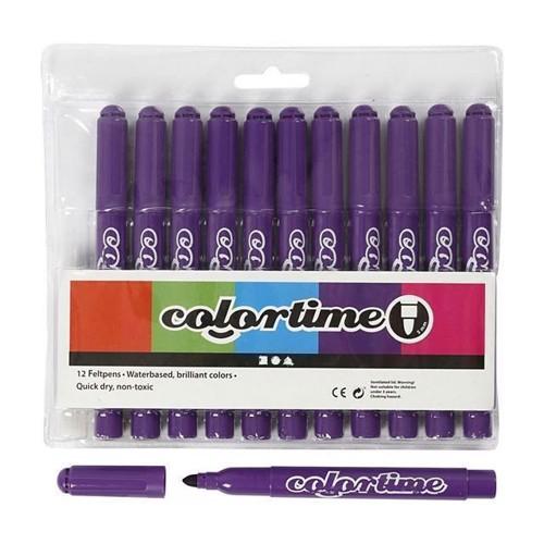 Image of Colortime - Jumbo Tuscher - Mørkelilla 12stk
