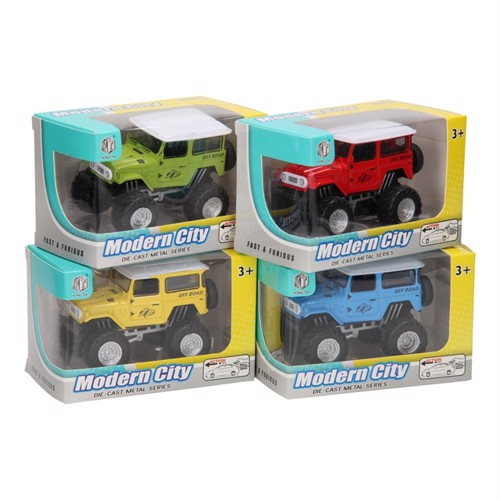 Image of Die-cast, pull back jeep
