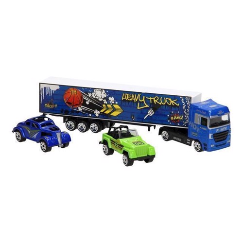 Image of Diecast lastbil sæt blå