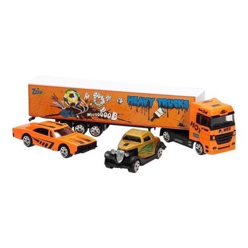Image of Diecast lastbil sæt orange