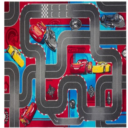 Image of Disney Biler 3 World Of Cars Gulvtæppe Til Børn 133X95