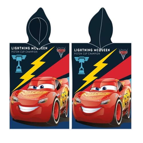 Image of Disney Biler Cars Poncho 100 Procent Bomuld