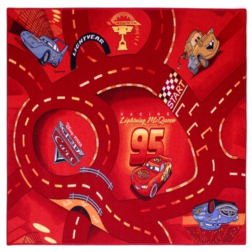 Image of Disney Biler Rød børne tæppe 133x95 (5414956603959)