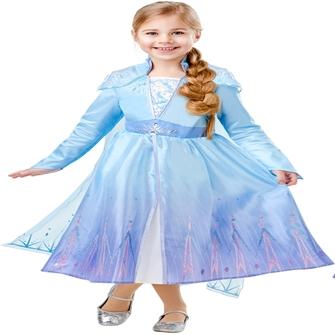 Image of Disney Frost 2 ELSA Deluxe Kjole Udklædningstøj (3-9 år)(Str. 128/L)