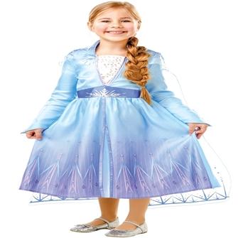 Image of Disney Frost 2 ELSA Kjole Udklædningstøj (3-9 år)(Str. 128/L)
