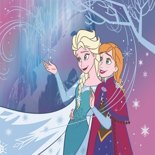 Image of Disney frost, anna og elsa gulvtæppe 95x133cm