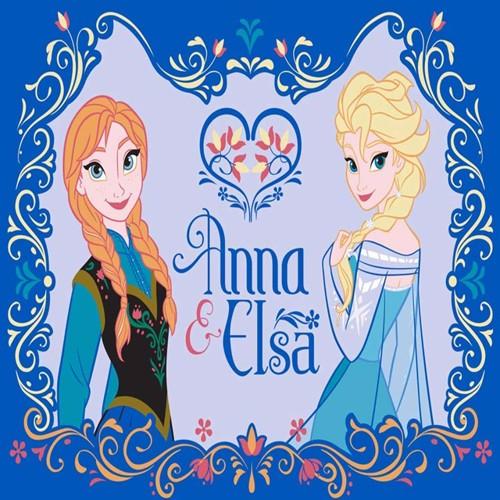 Image of Disney Frost Anna Og Elsa Børnetæppe 01, 95X133Cm