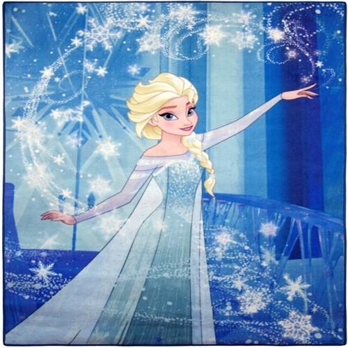 Image of Disney Frost Dronning Elsa Deluxe Gulvtæppe Til Børn 95X125