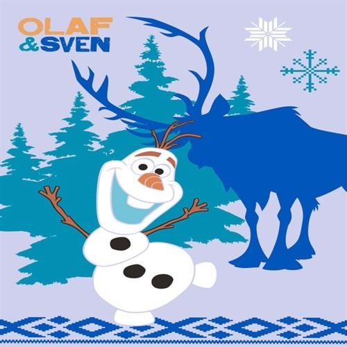 Image of Disney Frost Olaf Og Sven Børnetæppe 03, 95X133Cm