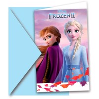 Disney frozen 2, Invitationer 6 stk