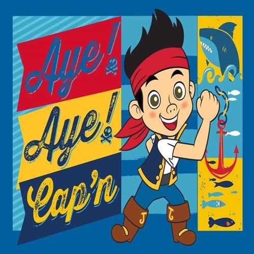 Image of Disney Jake Og Piraterne Børnetæppe 01, 95X133Cm