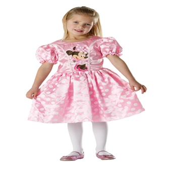 Image of Disney Junior Minnie Mouse Classic Pink Kostume (3-9 år)(Str. 116/M)