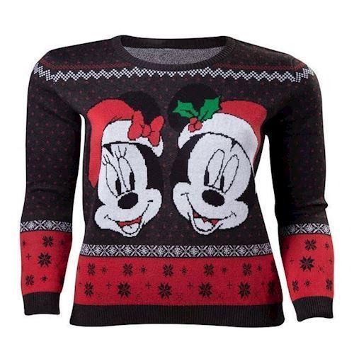 Image of   Disney Mickey og Minnie Sweater XL
