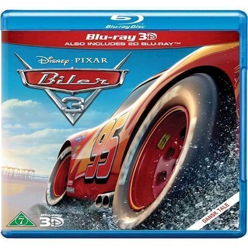 Image of Disney Pixar: Biler 3 3D Blu-ray (8717418510176)