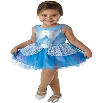Image of Disney Prinsesse Askepot Ballerina Udklædningstøj (2-6 år)(Str. 116/M)
