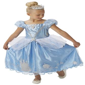 Image of Disney Prinsesse Askepot Deluxe Kjole Udklædningstøj (3-9 år)(Str. 128/L)