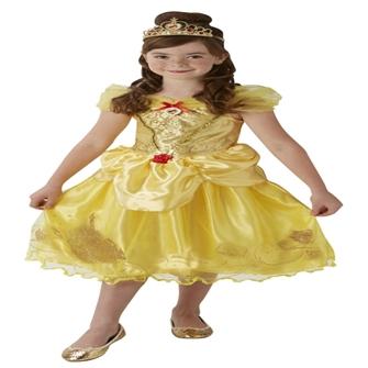 Image of Disney Prinsesse Belle Deluxe Kjole Udklædningstøj (3-9 år)(Str. 128/L)
