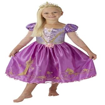 Image of Disney Prinsesse Rapunzel Deluxe Kjole Udklædningstøj (3-9 år)(Str. 116/M)