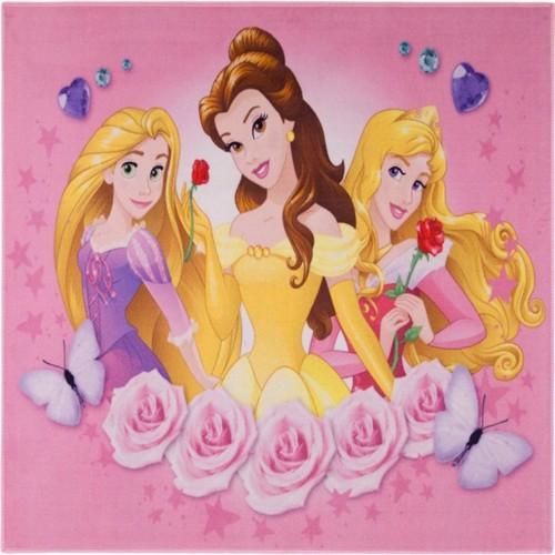 Image of Disney Prinsesse Roser Deluxe Gulvtæppe Til Børn 95X125