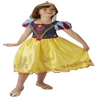 Image of Disney Prinsesse Snehvide Deluxe Kjole Udklædningstøj (3-9 år)(Str. 128/L)
