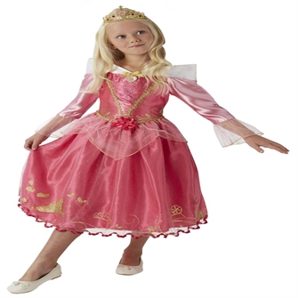 Image of Disney Prinsesse Tornerose Deluxe Kjole Udklædningstøj (3-9 år)(Str. 116/M)