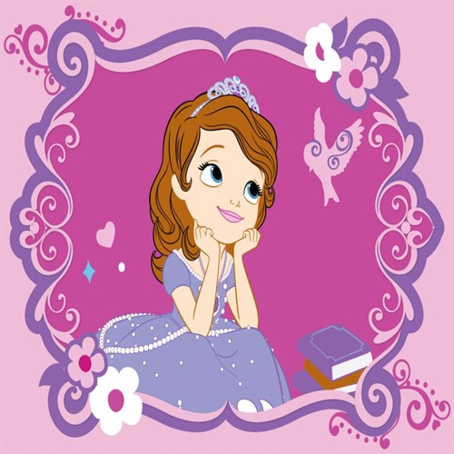 Image of Disney Sofia Den Første Børnetæppe 01, 95X133Cm