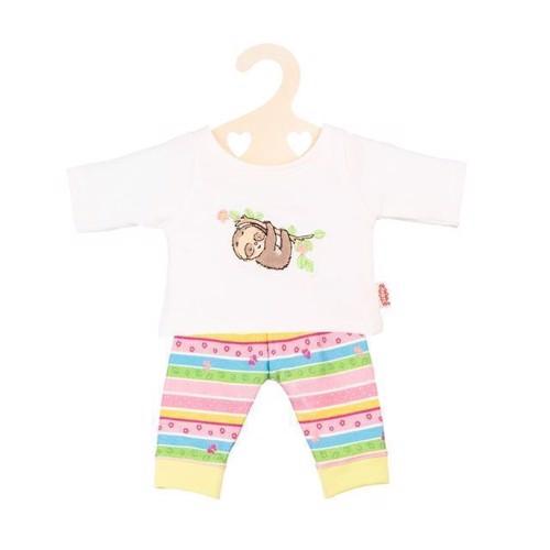 Image of   Dukketøj, pyjamas med dovendyr, til dukker på 28-35 cm