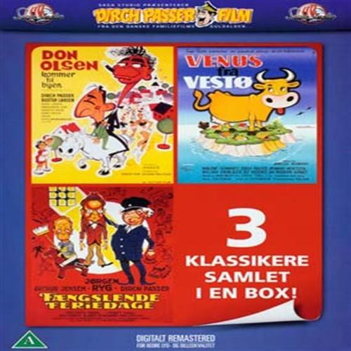 Image of   Don Olsen kommer til byen / Venus fra Vestø / Fængslende Feriedage - DVD
