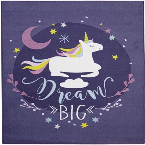 Image of Drømme Enhjørning / Dream Unicorn De Luxe gulvtæppe til børn 95x125 (5414956448741)