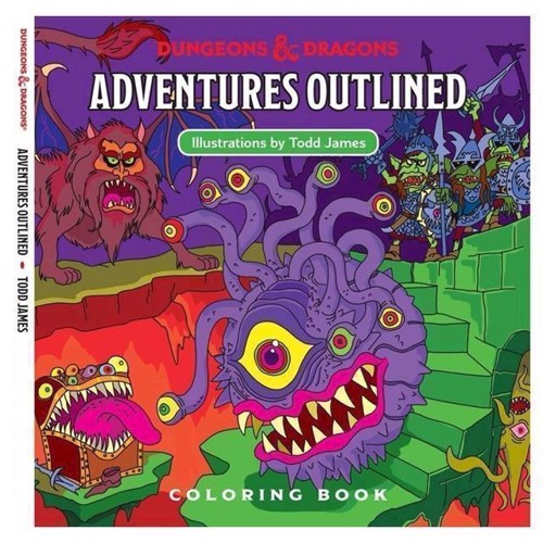 Image of Dungeons and Dragons - Adventures Outlined malebog