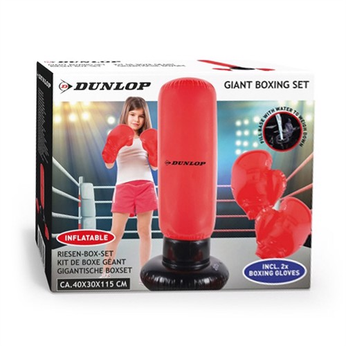 Image of Dunlop Inflatable Boxing Set with Gloves (8711252168159)
