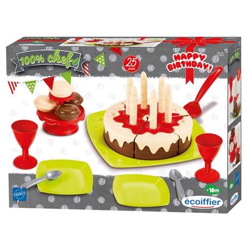 Image of Ecoiffier, legemad fødselsdagskage med tilbehør