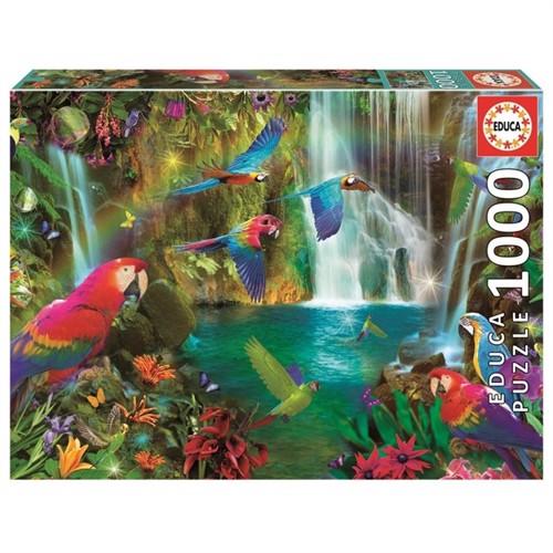 Image of Educa - Puzzle 1000 - Tropical Parrots (018457) (8412668184572)