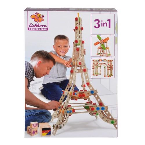 Image of Eichhorn Constructor Byggesæt Eiffeltårnet 3I1 315 Dele
