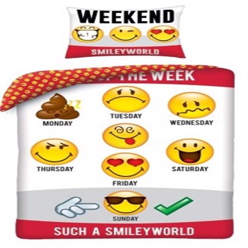 Image of Emoji Smileys Sengetøj 100 Procent Bomuld