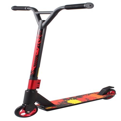 Billede af Extreme trick løbehjul, rød/sort