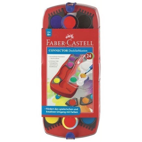 Image of Faber-Castell - Connector Paint Box - 24 ct