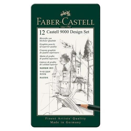 Image of Faber Castell, Graphite blyant design 9000 design sæt (4005401190646)