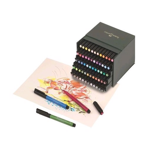 Image of   Faber Castell - PITT Artist Pen Brush - Studio box med 60