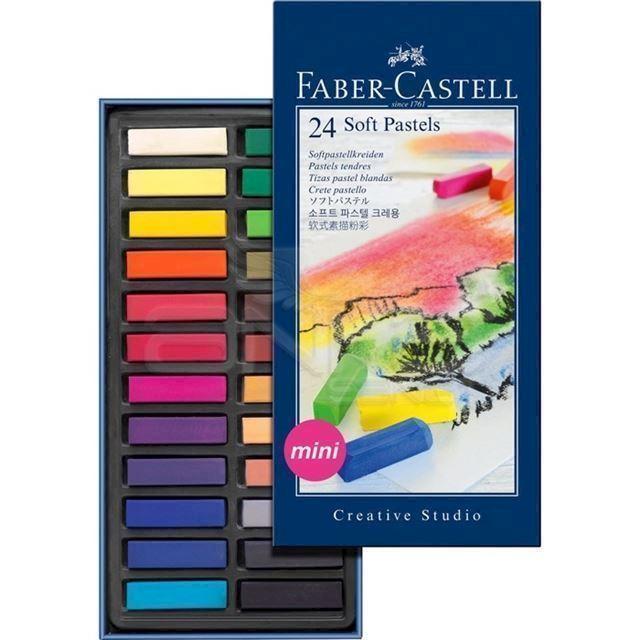 fabercastell bløde pastel farvekridt mini 24 stk køber