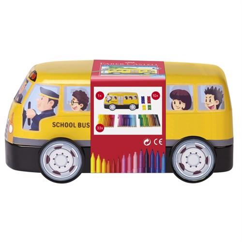 Image of Faber-Castell - Connector Fibre-tip Pen - School bus, 43 pieces (155532) (4005401555322)