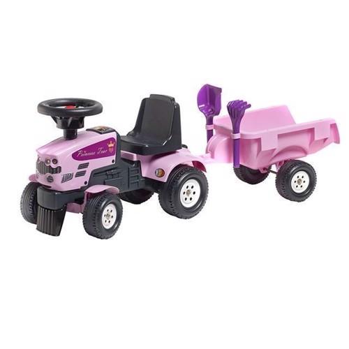 Image of Traktor med trailer, lyserød, prinsesse (3016200108627)