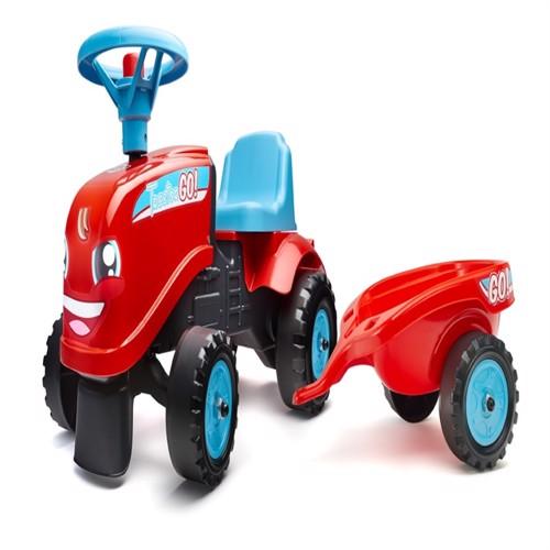 Image of Falk Gå Traktor Med Trailer 2I1Design 1-3 År