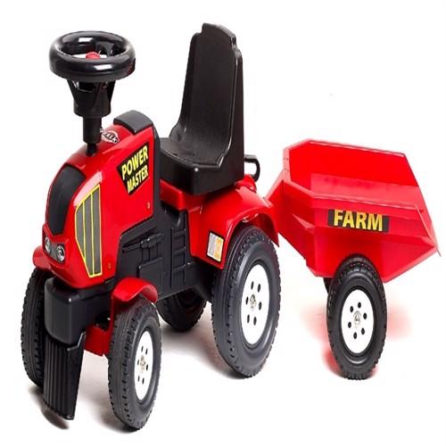 Image of Falk Power Master Gå Traktor Med Trailer