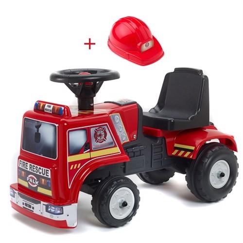 Falk Toys Brandbil Gåbil Med Hjelm